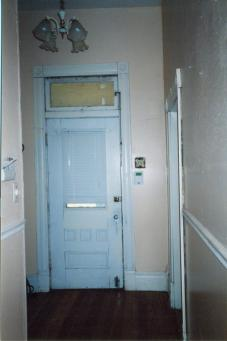 Back Side of Front Door