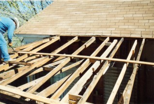 Backroom roof demo