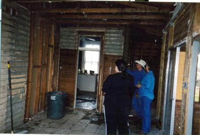 Backroom during Demo