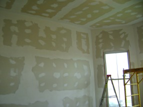 After finishing 3rd coat of drywall mud